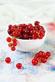 A bowl of redcurrants