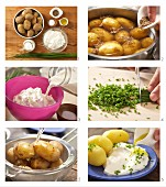 How to prepare new potatoes with quark