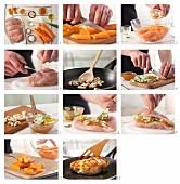 Fruchtig gefüllte Hähnchenbrust zubereiten