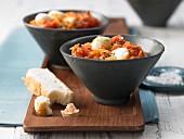 Tomato curry with mozzerella