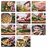 How to prepare fillets of lamb with garlic and roasted vegetables
