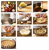 Milchreis-Rhabarber-Tarte mit Mandelblättchen zubereiten