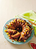 Ginger cake with candied fruits