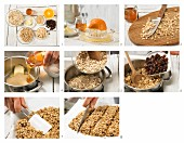 How to prepare peanut and raisin bars