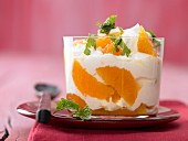 Clementine yoghurt with ginger and honey
