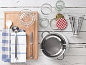 Kitchen utensils for making jam