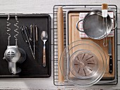 Kitchen utensils for making bread rolls