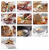 Entenragout mit Gemüse und Honig-Austernsauce (Asien) zubereiten