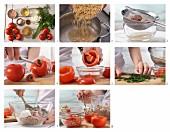 Geschmorte Tomaten gefüllt mit Thunfisch, Reis und Kräutern zubereiten