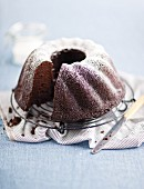 Chocolate and sour cream Bundt cake with icing sugar