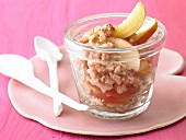 Ayurveda muesli with apple and pear compote