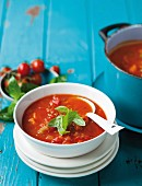 Tomato & celery soup with basil