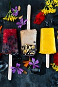 Vegan fruit ice lollies