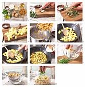 Pasta mit Kartoffeln zubereiten