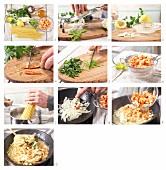 Scharfe Krebsfleisch-Pasta mit Fenchel zubereiten