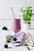 Blueberry & blackberry smoothie