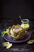 Artichoke with French dressing