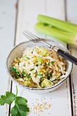 Cabbage salad with millet