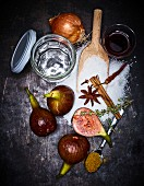 Ingredients for fig chutney