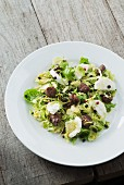 Brussels sprout salad with goats' cheese and Cicit (goat sausage from Ticino)