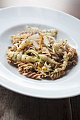 Fusilli with Japanese artichoke