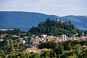 The view of Forcalquier in France, well known for its pastis production