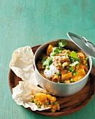 Potato curry with peas