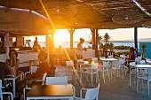 A sunset in Culatra in the Algarve region of Portugal