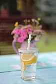 Lemonade on a garden table