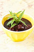 Cherry soup with lemon verbena