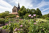The Abbey Church and Abbey Gardens in Riddagshausen, Braunschweig (Brunswick), Germany