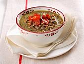 Minestra di lenticchie (Italian lentil soup)