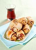 Scamorza & bacon rolls