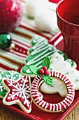 Cookies with a Christmas theme