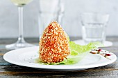 Risotto balls in a crispy breadcrumb coating