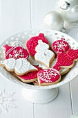 Cookies decorated with a Christmas theme
