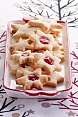 Christmas biscuits with jelly