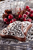 Christmas gingerbread heart biscuits