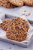 Healthy wholemeal biscuits with seeds