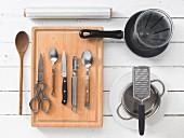 Kitchen utensils for preparing tofu
