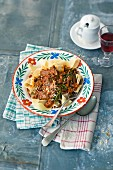 Pappardelle with duck ragout (Italy)