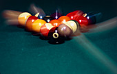 Billiard balls scattering after impact