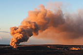 'Ash Eruption,Kilauea Volcano'