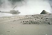 Mount St. Helen's post eruption ash