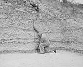 Louis Leakey at Olduvai Site