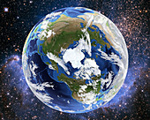 Earth From North Pole
