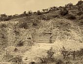Excavations at Olduvai Gorge,Tanzania