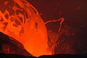 Molten Lava,Kilauea Volcano,Hawaii