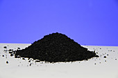 Pile of activated charcoal