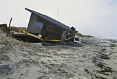 Collapsed Cottage Due to Erosion,USA